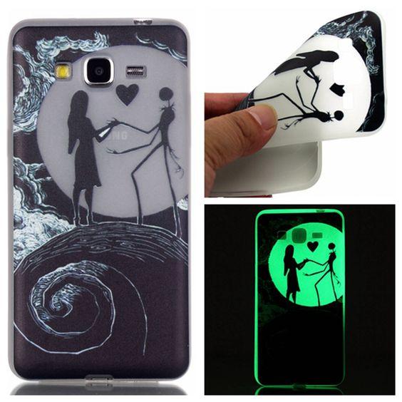 Noctilucent прозрачный чехол для Samsung Galaxy премьер страусовых G530 мягкая вернуться тпу световой защитной оболочки, Yy p057 купить на AliExpress