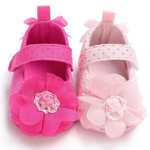 5c38c930a02bd Raise Young Cotton Fabric Baby Girl Shoes Polka Dot Flower Newborn Girl  Princess Shoes Infant Toddler Girl First Walkers
