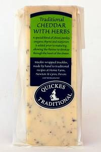 Quickes Traditional Cheddar with Hebs on offer now