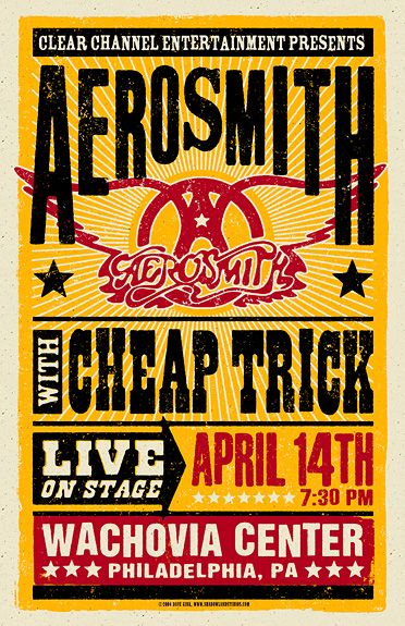 Aerosmith cheap trick and rock posters on pinterest for Cheap prints and posters