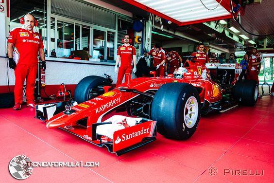 Similitudes en el diseño de los coches de 2017 en los test de Pirelli de Ferrari y Red Bull  #F1