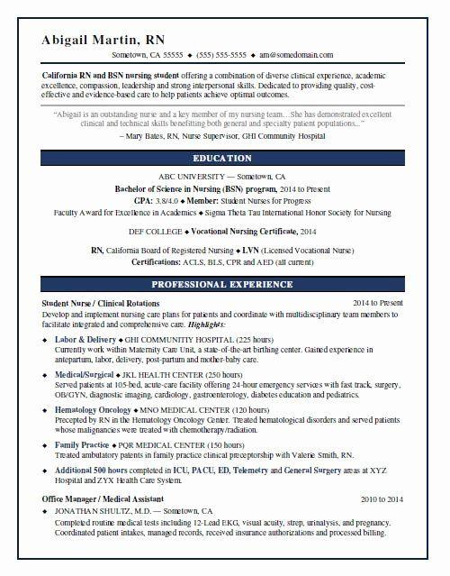25 New Grad Nursing Resume Templates In 2020 Nursing Resume New