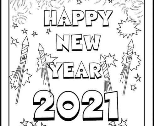 Free Printable New Years Coloring Pages For Kids 2021 New Year Coloring Pages Coloring Pages Coloring Pages For Kids