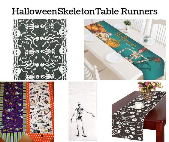 Halloween Skeleton Table Runners