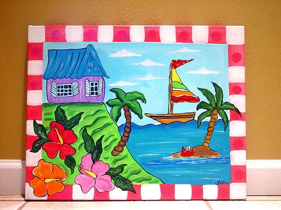 Image result for canvas painting for kids