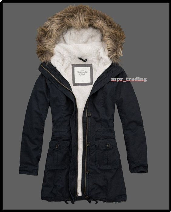 NWT Abercrombie & Fitch Women's Codie Sherpa Lined Parka Jacket ...