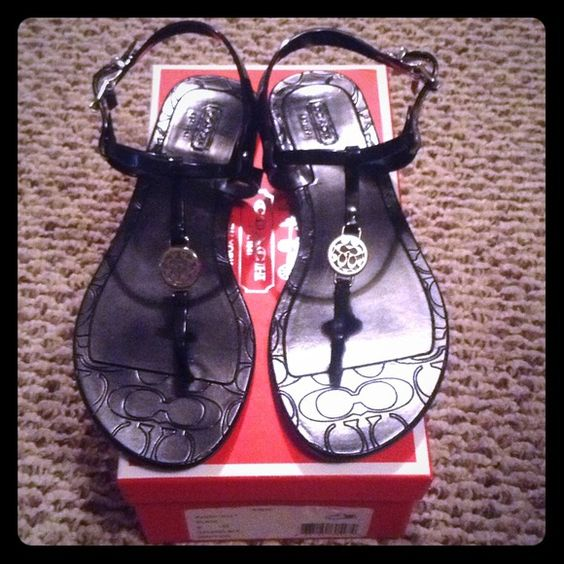Bundle for trade. I love these sandals, but the 7 was too s,all and the 8 too big. :( I'm 7.5. These are in excellent condition. Stored in box. Coach Shoes
