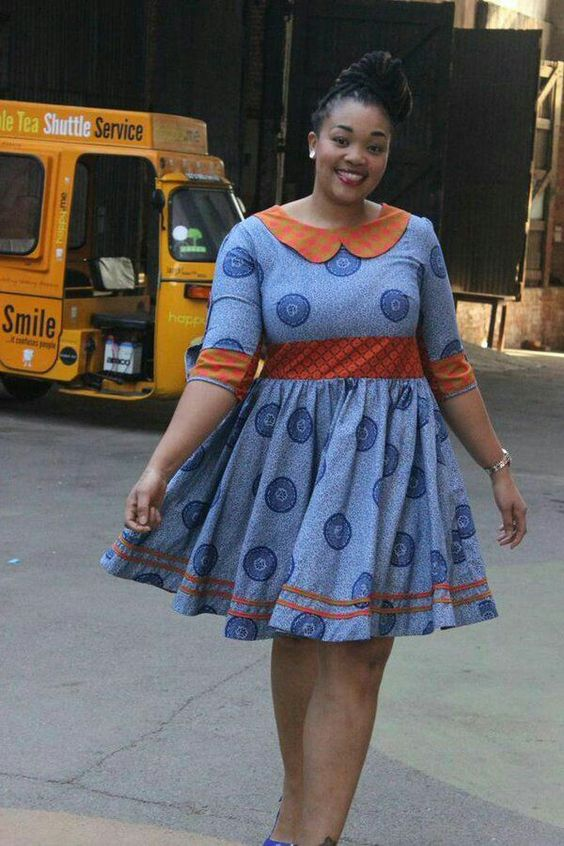 I love the combination of shweshwe prints,African