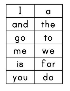 Printables Sight Words Printable Flash Cards high frequency words i can make flash cards for 1st grade grade