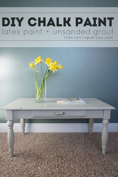 Diy Chalk Paint Furniture Latex And Diy And Crafts