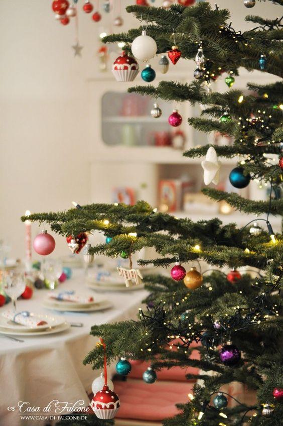Ideen Vintage Weihnachtsdeko kronleuchter schneeflöckchen