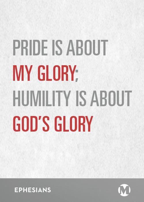 Pride vs. Humility: