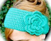 Crochet Pattern Headband with Big Layered Flower, Easy
