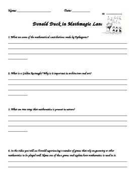 Printables Donald In Mathmagic Land Worksheet in mathmagic land worksheet davezan donald davezan