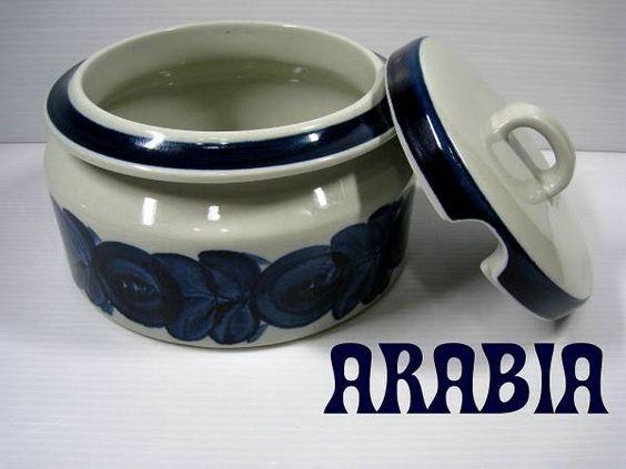 北欧フィンランド ARABIA アラビアアネモネスープポット ¥12000円 〆03月17日