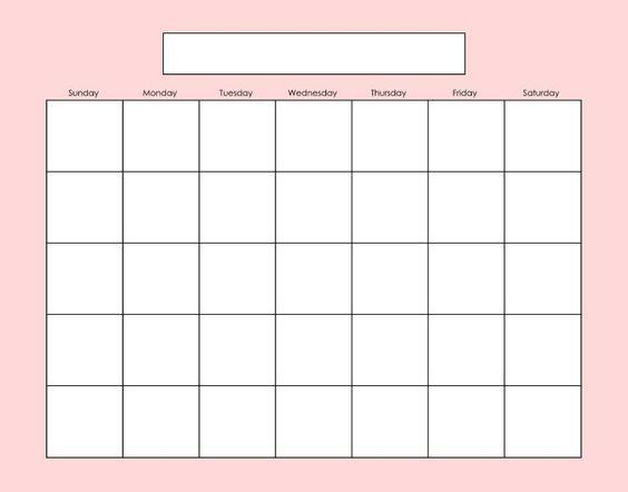 Fill In Calendar   Calendar