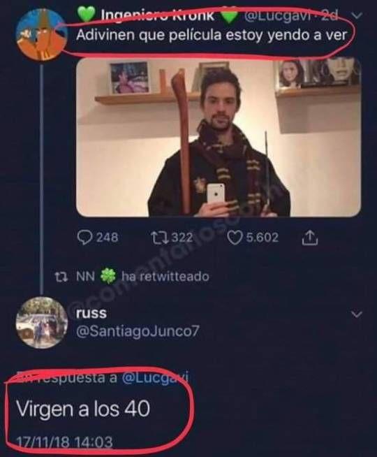 Destruído En Segundos 40 A Cine Los Película Twitter Virgen W3 Humor Destiny Mr