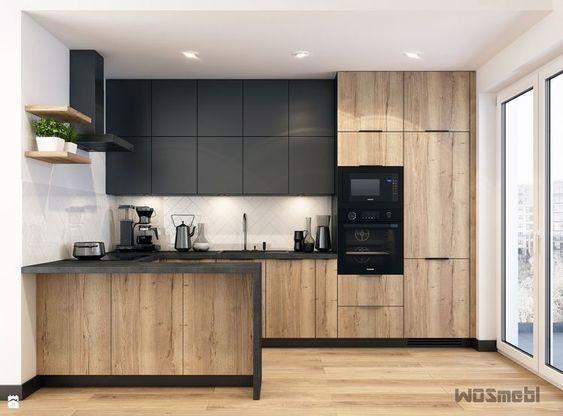 Cocinas De Madera Modernas Pequenas Cocinas De Madera Cocinas De Madera Rusticas Cocinas De Mad Modern Kitchen Modern Kitchen Interiors Modern Kitchen Design