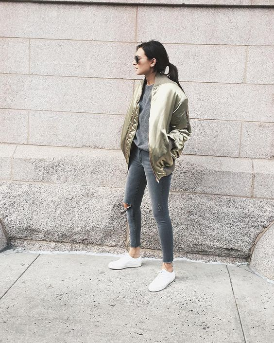"""Joined the bomber jacket gang 