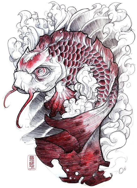 Classic Koi  shigeki.zumi: tattoo sketchbook: 008 by fydbac.deviantart.com on @deviantART