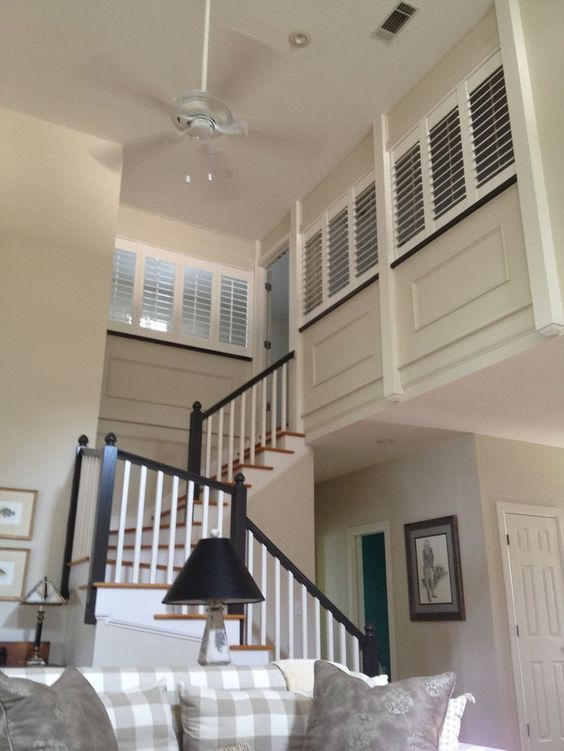 Shutters Stairs And Half Walls On Pinterest