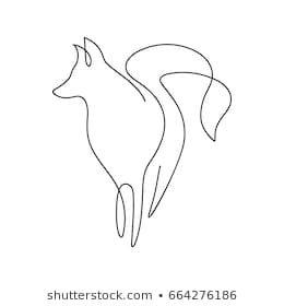 One Line Design Silhouette Of Fox Hand Drawn Minimalism Style Vector Illustration Linejnye Chertezhi Tatuirovki Lisy Konturnye Risunki