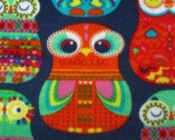 Fleece owl blue