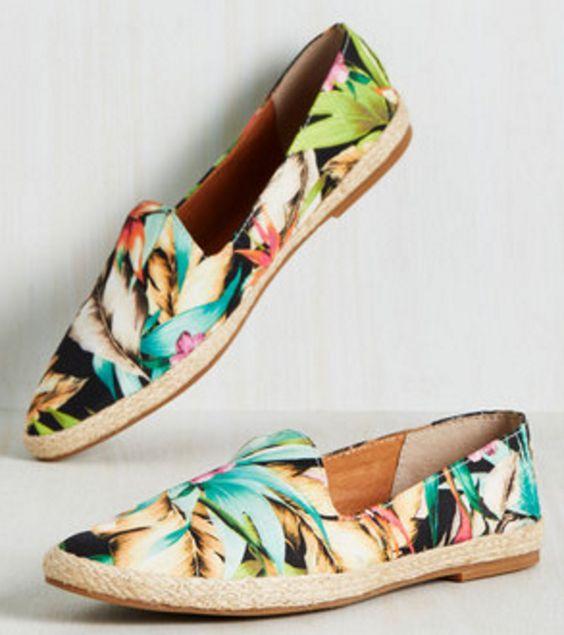 Tropical Print Slip-on Sneakers