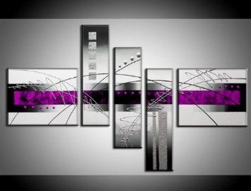 Amazon.com: Abstract Wall Canvas Art Sets Painting for Home Decoration 100% Hand Painted Oil Painting Modern Art Large Canvas Wall Art Stretched and Ready to Hang Free Shipping 5 Piece Canvas Art: Home & Kitchen