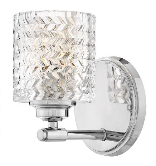 Hinkley Lighting 5040cm Elle Bathroom Sconce Chrome Bathroom Sconces Sconces Hinkley Lighting