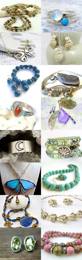 Beautiful Jewelry Gift Ideas  by Lee on Etsy--Pinned with TreasuryPin.com #gifts #jewelryonetsy #lovesvintagedelights