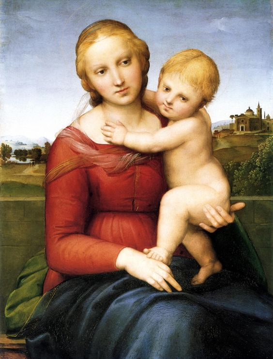 Madonna and Child: 1505 by Raphael (National Gallery of Art, Washington DC) - High Renaissance: