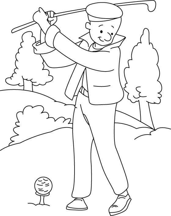 Golf Coloring Pages Best Coloring Pages For Kids Sports Coloring Pages Coloring Pages Valentines Day Coloring Page