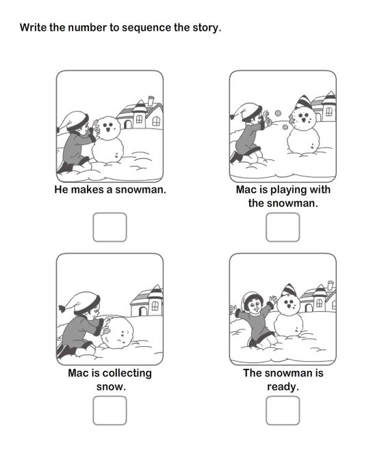 Picture Sequence Worksheet Snowman – Sequencing Events Worksheets for Kindergarten