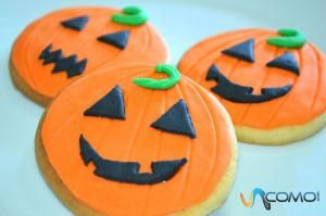 Cómo hacer galletas con forma de calabaza para Halloween