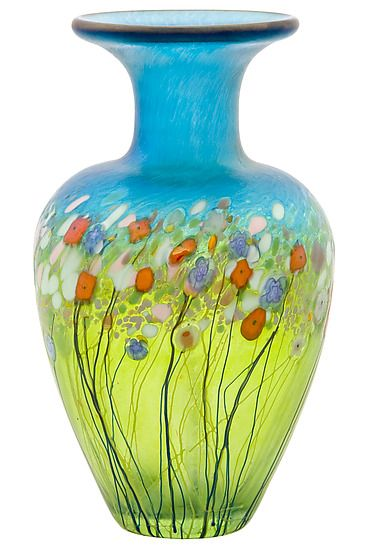 Meadow Posy Vase: Robert Held: Art Glass Vase - Artful Home