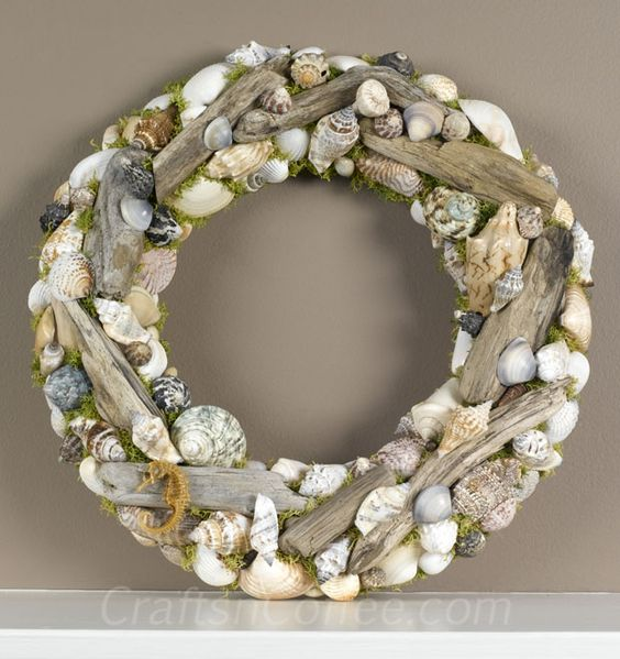 diy-driftwood-seashell-wrea.jpg (620×659):