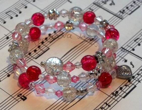 Red memory wire bangle by Terranova Jewels on Folksy - £5.00