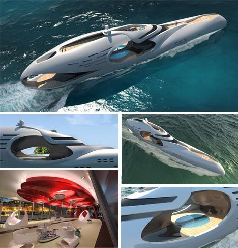 This totally reminds me of 20,000 Leagues Under The Sea!                                     Futuristic, but not the far-fetched science-fiction fantasy industrial design you might think – the Oculus by Schoepfer Yachts may not be for sale yet but it is already in pre-production mode with naval architects on board, so to speak. Hardly your typical houseboat, it is a virtual cruise ship for the rich and famous who can afford to buy it when it is fully planned and built.The anthropomorphism of…