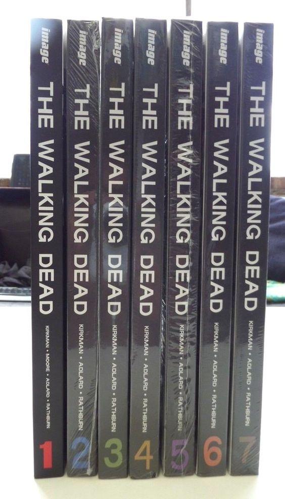 The Walking Dead Comics Hard Cover Books Set 1 7 Graphic Novel Lot Graphicnovel Walking Dead Comics The Walking Dead Book Set