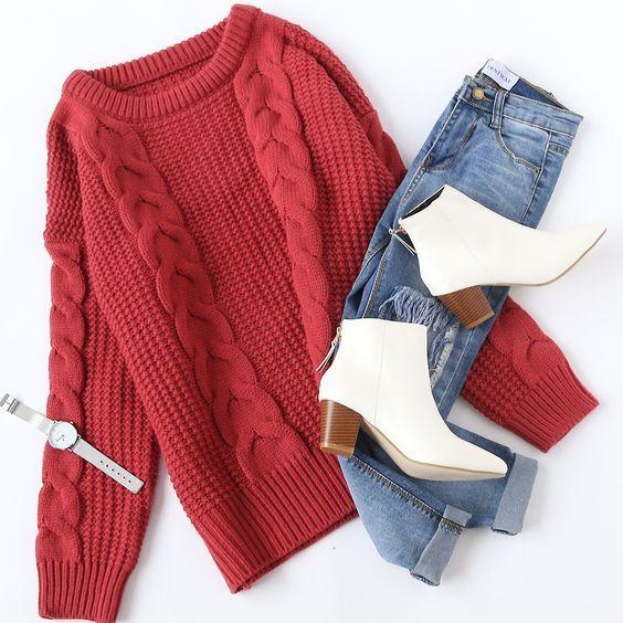 كوليكشن تنسيقات ملابس كاجوال حلوة ومميزة للشتاء 2019 Gorgeous Winter Casual Outfits Collection Outfits Invierno Fashion Outfits Winter Fashion Outfits