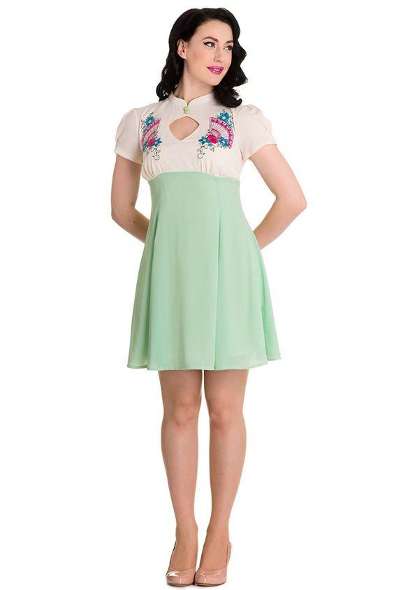 Hell Bunny Mint Kyoto Dress at Amazon Women's Clothing store:  https://www.amazon.com/gp/product/B01B6JPTMW/ref=as_li_qf_sp_asin_il_tl?ie=UTF8&tag=rockaclothsto-20&camp=1789&creative=9325&linkCode=as2&creativeASIN=B01B6JPTMW&linkId=844441deb9a1d49186905222c7fb0fc8