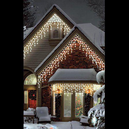 Leds Multi Function 120 Light Icicle Light The Seasonal Aisle Colour Warm White Icicle Lights Icicle Christmas Lights Led Christmas Lights