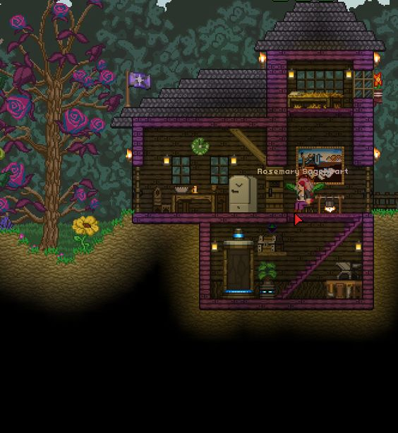 Terraria Base Inspiration: Starbound Farm House With Teleporter #Starbound #PCgaming