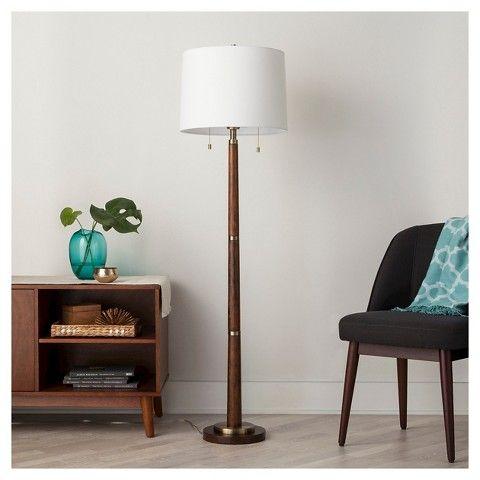 Bedroom Floor Lamp: Bedroom floor lamp - Franklin Floor Lamp - Walnut (Includes CFL Bulb) -  Threshold,Lighting