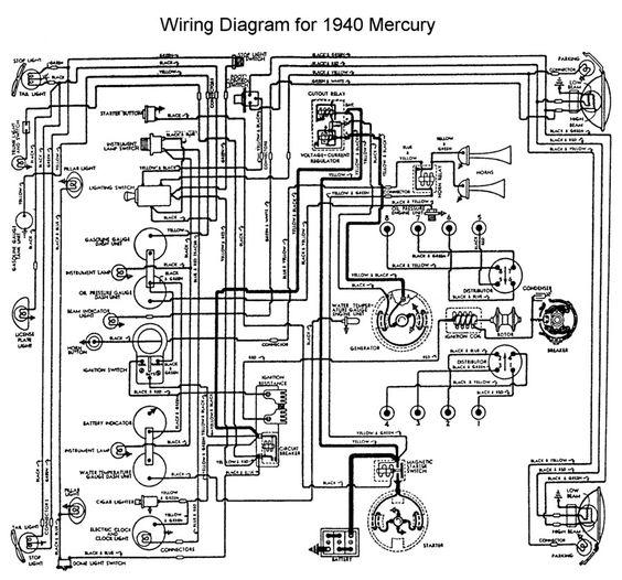 Wiring for 1940 Mercury | Wiring | Pinterest on mercury outboard motors, mercury smartcraft gauges, mercury key switch diagram, mercury 400r, mercury carburetor, 60 hp evinrude outboard diagrams, boat battery hookup diagrams, mercury parts diagrams, mercury paint, mercury electrical diagrams, mercury starter diagram, mercury ranger, mercury schematics, mercury outboard diagrams, mercury motor diagrams, 89 jeep carburetor diagrams, mercury tilt switch, mercury shifter diagram,
