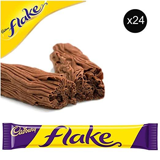 Cadbury Flake Bars Total 24 Bars Of British Chocolate Candy Cadbury Flake Review British Chocolate Flake Bar British Candy