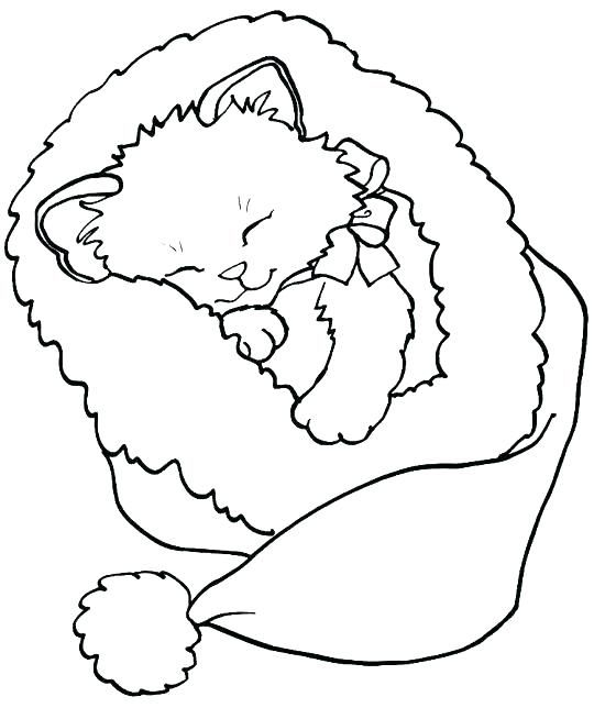 Cute Kitten Coloring Pages Idea Cat Coloring Page Merry