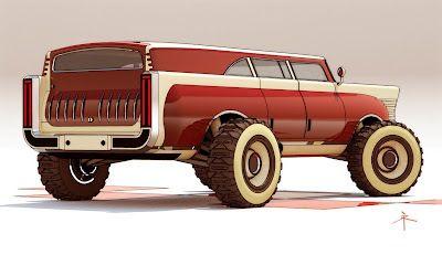 Retro-Future Car Designs By 600v