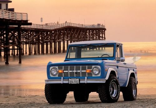 #Ford Bronco on the beach